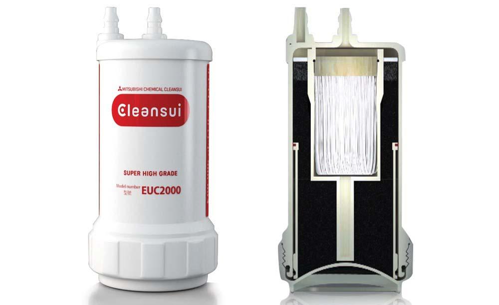 Nên thay lõi lọc Mitsubishi Cleansui EUC2000 sau 1 năm sử dụng hoặc khi lọc được 8000 lít.