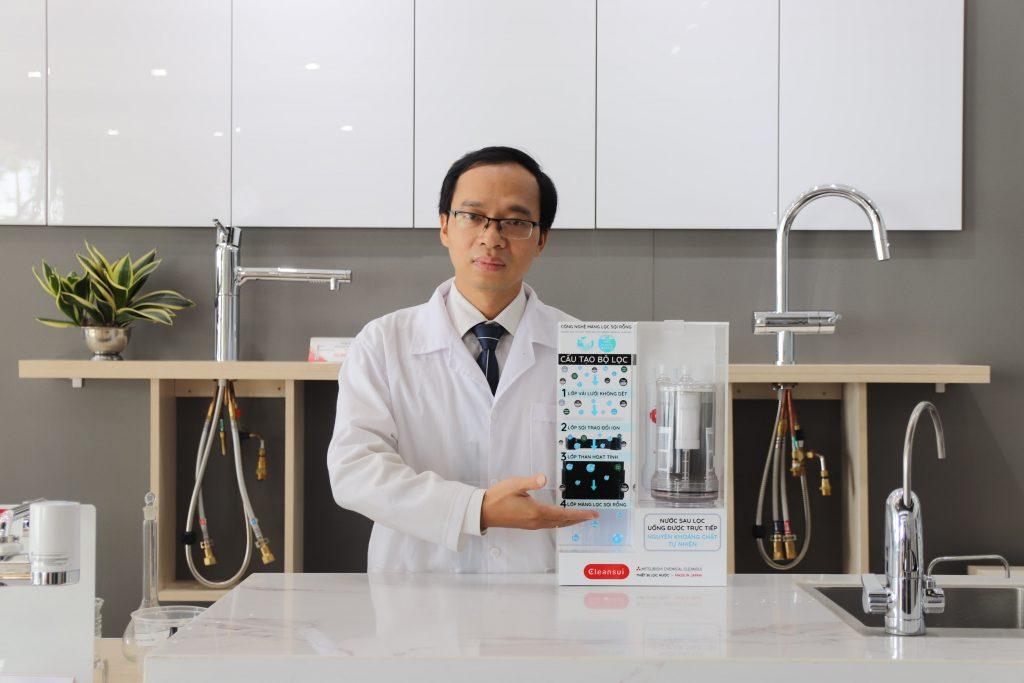 Thiết bị lọc nước không điện của Mitsubishi Cleansui áp dụng công nghệ màng lọc sợi rỗng