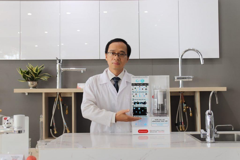 Chuyên gia giới thiệu vật liệu lọc nước sinh hoạt Mitsubishi Cleansui