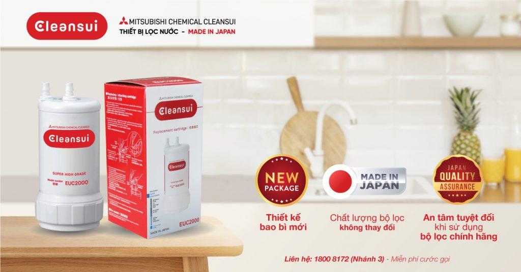 Bao bì mới cho bộ lọc EUC200 của MItsubishi Cleansui